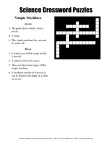 Science Crossword Puzzles Worksheet