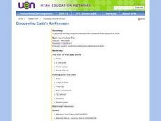 Science: Discovering Earth's Air Prressure Lesson Plan