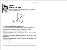 Science: Float and Sink Worksheet