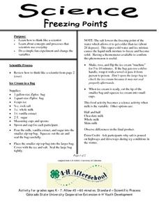 Science- Freezing Points Lesson Plan