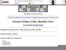 Science Friday: Cold, Absolute Zero Lesson Plan