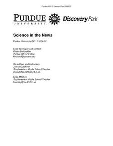 Science in the News Lesson Plan