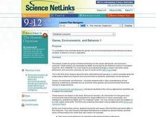 Science NetLinks: Genes, Environments, and Behavior 1 Lesson Plan