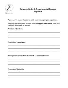 Science Skills and Experimental Design Lesson Plan