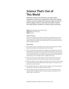 Science That's Out of This World Lesson Plan