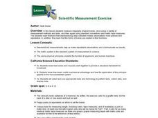 Scientific Measurement Exercise Lesson Plan