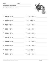 Scientific Notation 4 Worksheet