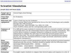 Scientist Simulation Lesson Plan