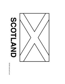 Scotland Flag Worksheet