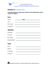 Scrambled Letters Worksheet