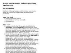 Script and Present Television News Broadcasts Lesson Plan
