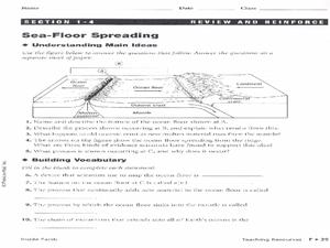 Seafloor Spreading Worksheet Answers - seafloor spreading ...