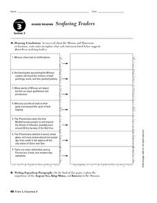 Seafaring Traders Worksheet