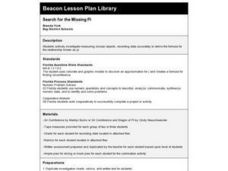 Search for the Missing Pi Lesson Plan