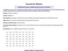 Search for Wholes Lesson Plan