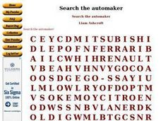 Search the automaker Worksheet
