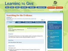 Searching for the Evidence Lesson Plan