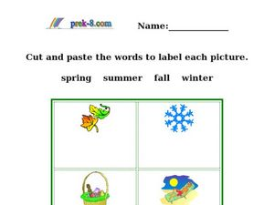 Season Words - Picture/Word Match Worksheet