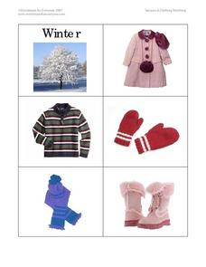 Seasons and Clothing Matching Worksheet