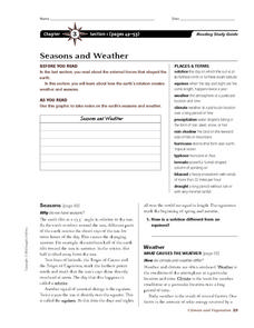 Seasons and Weather Worksheet