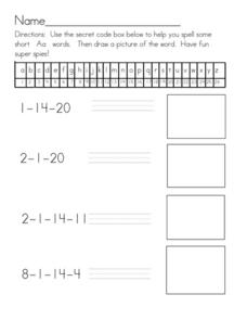 Secret Code 3 Worksheet