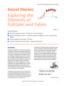 Secret Stories: Exploring the Elements of Folktales and Fables Lesson Plan