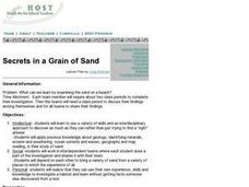 Secrets in a Grain of Sand Lesson Plan
