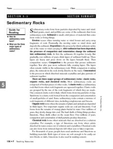 Sedimentary Rocks- Formation and Types Lesson Plan
