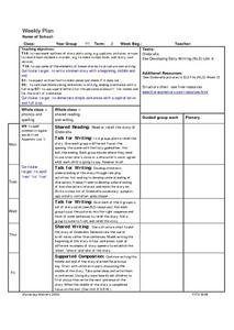 See Developing Early Writing Lesson Plan