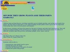 See How They Grow: Plants And Their Parts Lesson Plan