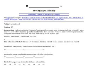 Seeing Equivalency Lesson Plan