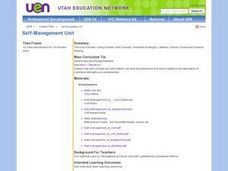 Self-Management Unit Lesson Plan