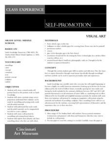 Self-Promotion Lesson Plan