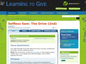 Selfless Sam- The Drive Lesson Plan