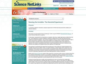 Sensing the Invisible: The Herschel Experiment Lesson Plan