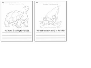 Sentence Activity #3: Color and Write Worksheet