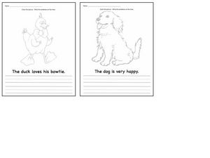 Sentence Activity: Color and Write Worksheet