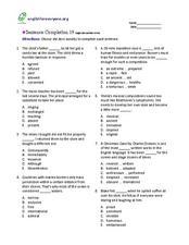 Sentence Completion Worksheets - Gamersn
