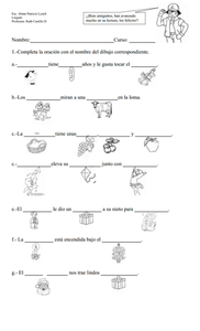 Sentence Completion Worksheet