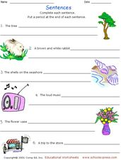 Sentence Scramble 6 Worksheet