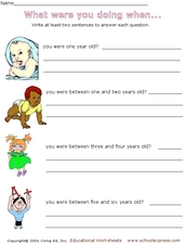 Sentence Writing: Answering Questions in Complete Sentences Worksheet