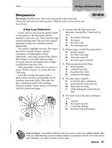 Sequence: Hot Dogs and Bamboo Shoots Worksheet