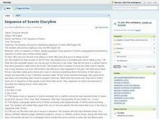 Sequence of Events Storyline Lesson Plan