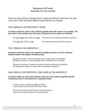 Sequence of Events Worksheet