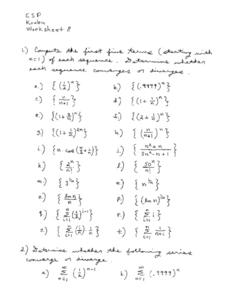 Sequence Problems Worksheet