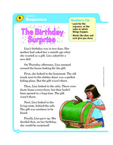 Sequence: The Birthday Surprise Worksheet