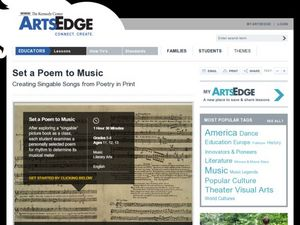 Set a Poem to Music Lesson Plan