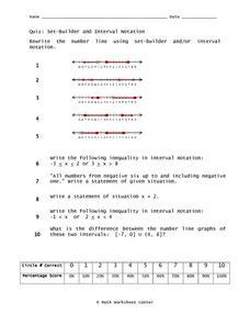 set builder and interval notation 9th grade worksheet lesson planet. Black Bedroom Furniture Sets. Home Design Ideas