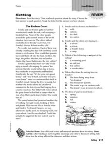 Setting: El Goero Worksheet