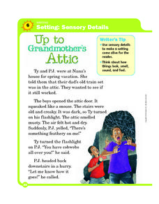 Setting: Sensory Details: Up to Grandmother's Attic Worksheet
